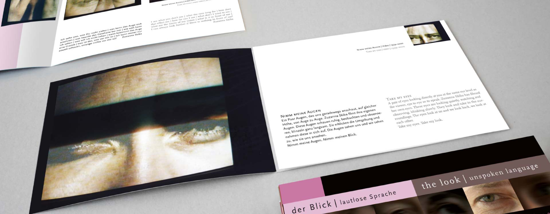 Leaflet about the work of Zuzanna Skiba in the exhibition Der Blick; Design: Kattrin Richter | Graphic Design Studio