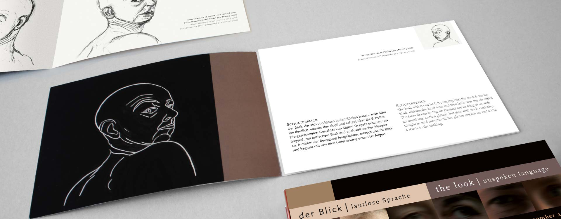 Leaflet about the work of Sigrun Drapatz in the exhibition Der Blick; Design: Kattrin Richter | Graphic Design Studio