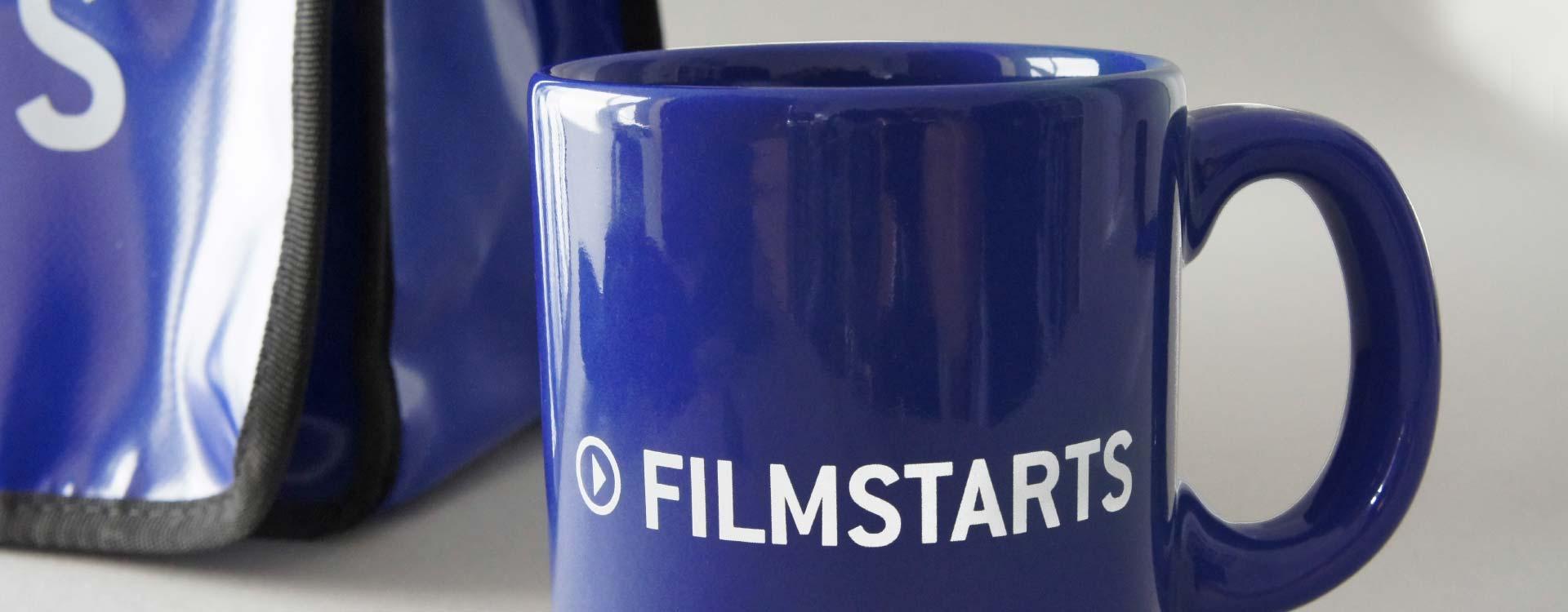 Tasse mit dem Logo Filmstarts