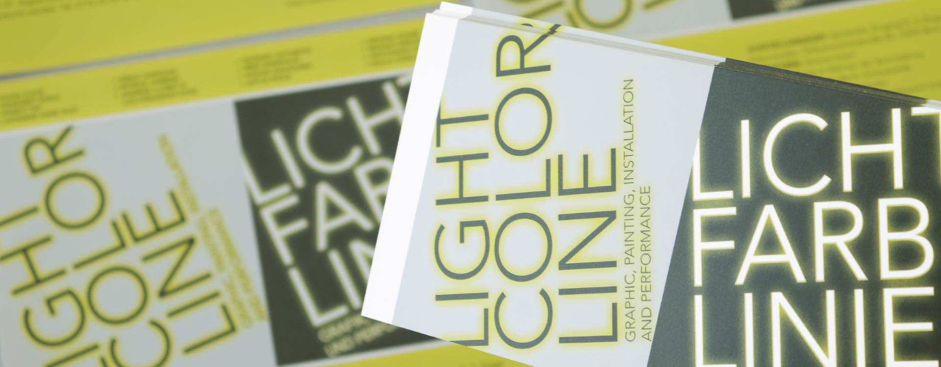 Invitation card for the exhibition Light Colour Line in the Spreehöfen in Berlin Schöneweide; Design: Kattrin Richter | Graphic Design Studio