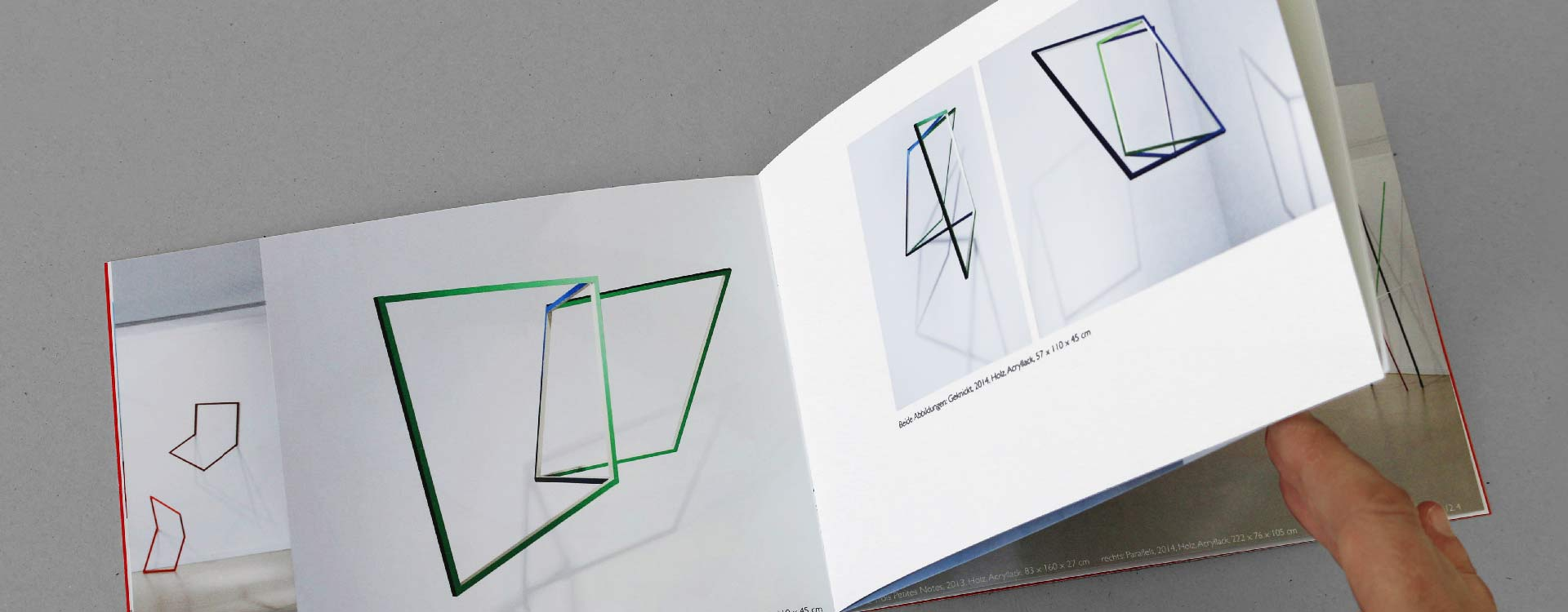 Catalogue Moving Space in the rk Gallery for Contemporary Art, Berlin; Design: Kattrin Richter | Graphic Design Studio