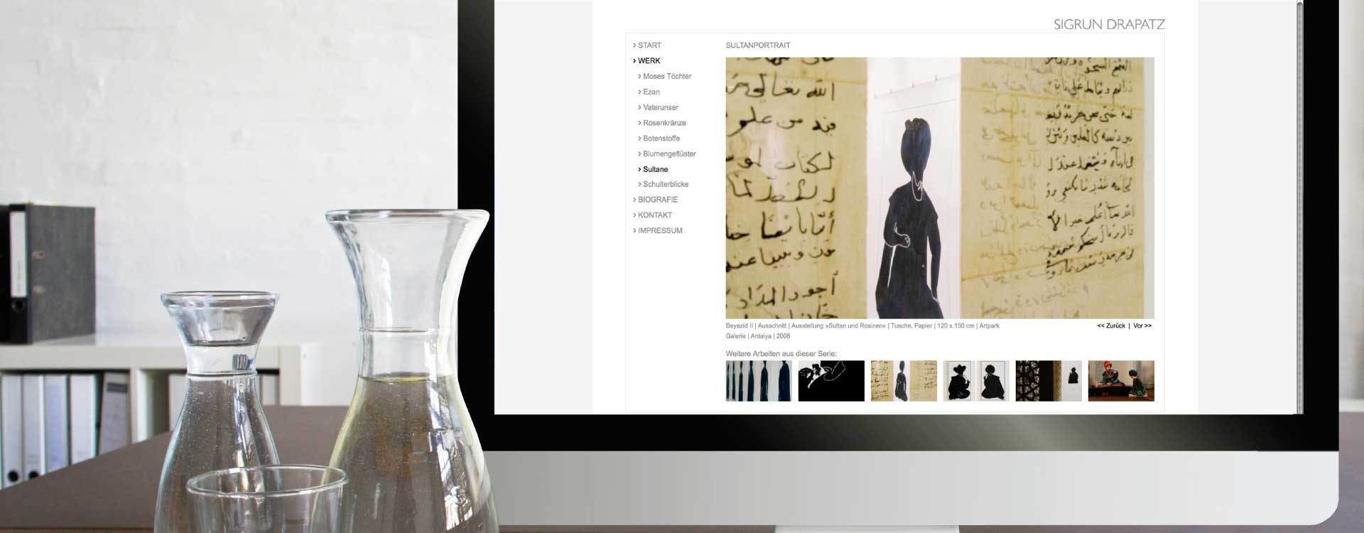 Website for the art of Sigrun Drapatz; Design: Kattrin Richter | Graphic Design Studio