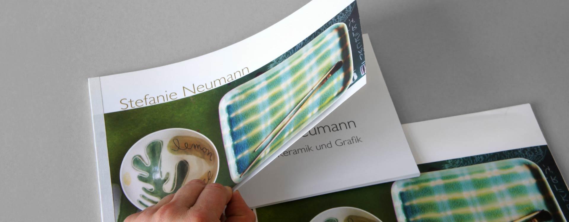 Katalog Stefanie Neumann, Keramik und Grafik; Design: Kattrin Richter |Büro für Grafikdesign
