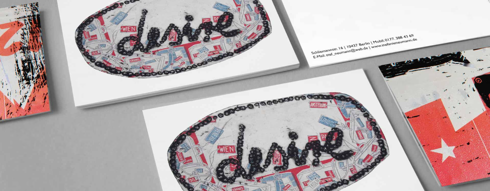 Postcards for Stefanie Neumann; Design: Kattrin Richter | Graphic Design Studio