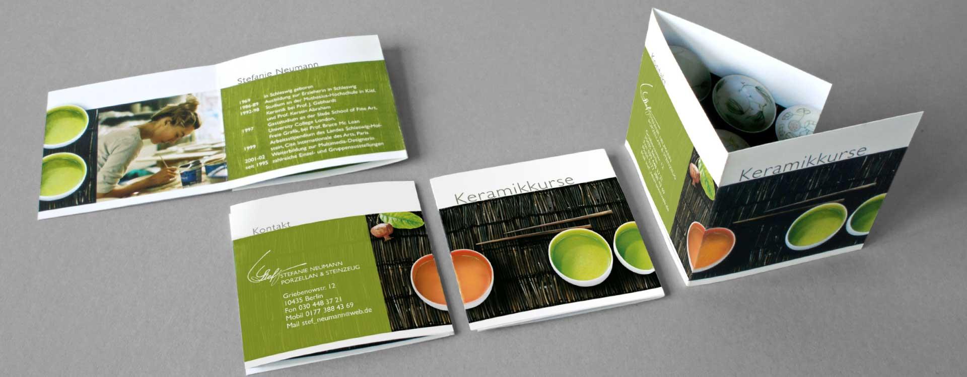 Faltblatt für Stefanie Neumann; Design: Kattrin Richter |Büro für Grafikdesign