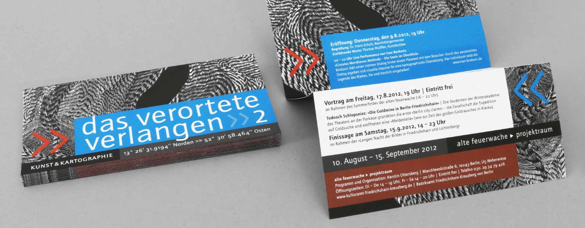 Leaflet for the exhibition Localised Desire in the Alte Feuerwache Project Space Berlin; Design: Kattrin Richter | Graphic Design Studio