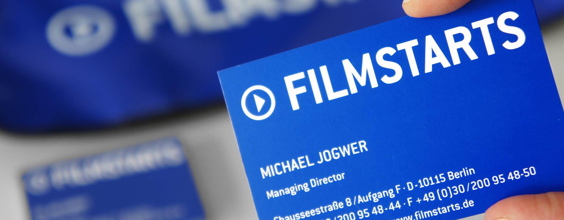 Business card for Filmstarts