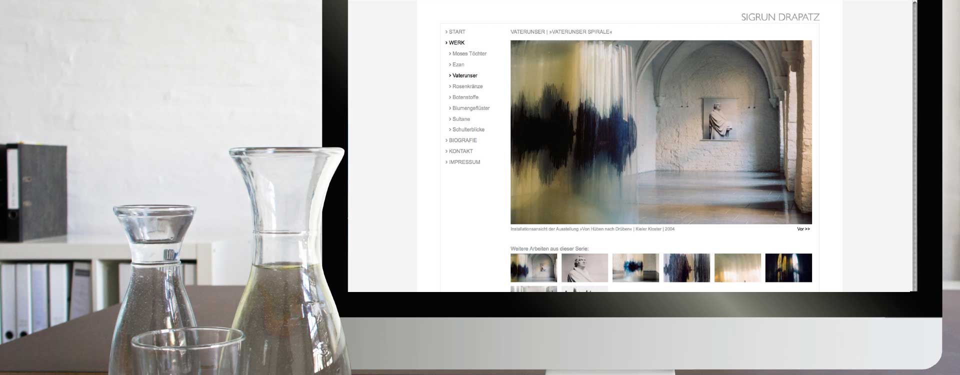 Website for the art of Sigrun Drapatz; Design: Kattrin Richter | Graphic Design Studio