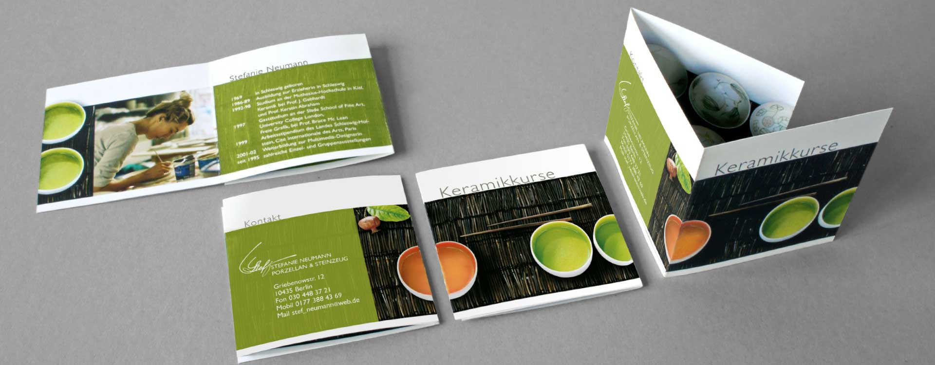 Leaflet for Stefanie Neumann; Design: Kattrin Richter | Graphic Design Studio