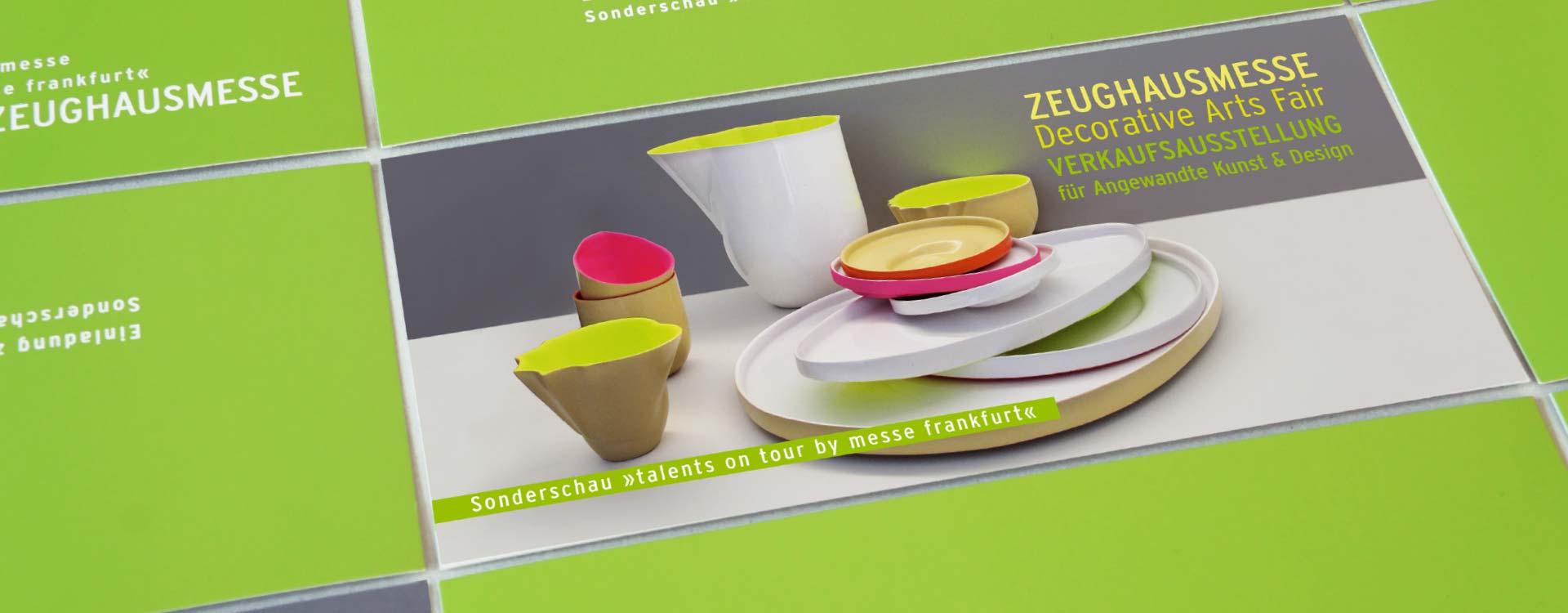 Invitation cards for Zeughausmesse; Design: Kattrin Richter | Graphic Design Studio
